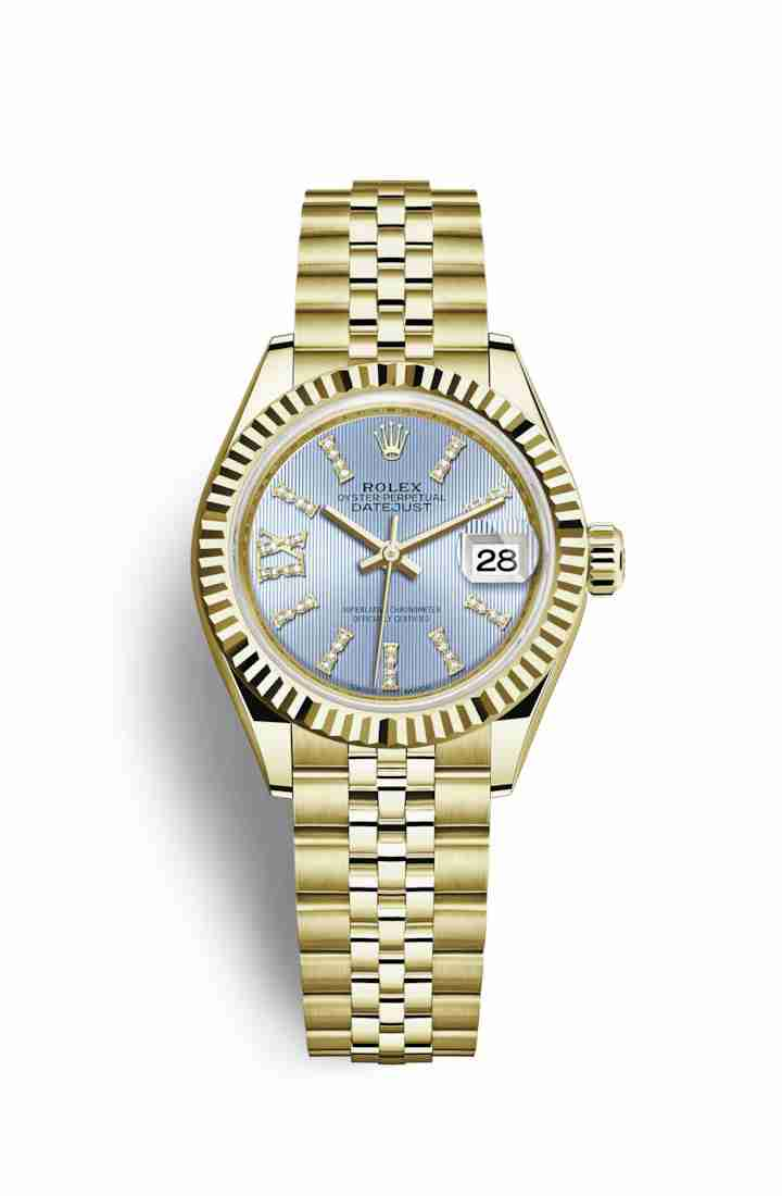Rolex Datejust 28 279178 Cornflower blue diamonds Watch Replica