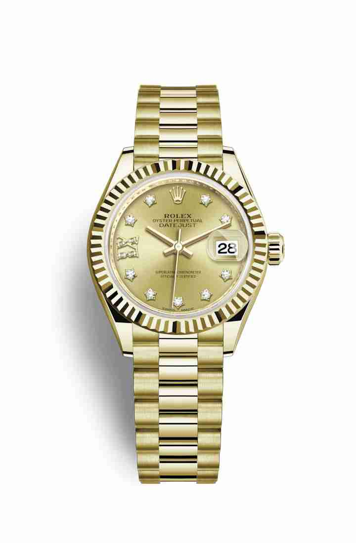 Rolex Datejust 28 279178 Champagne diamonds Watch Replica