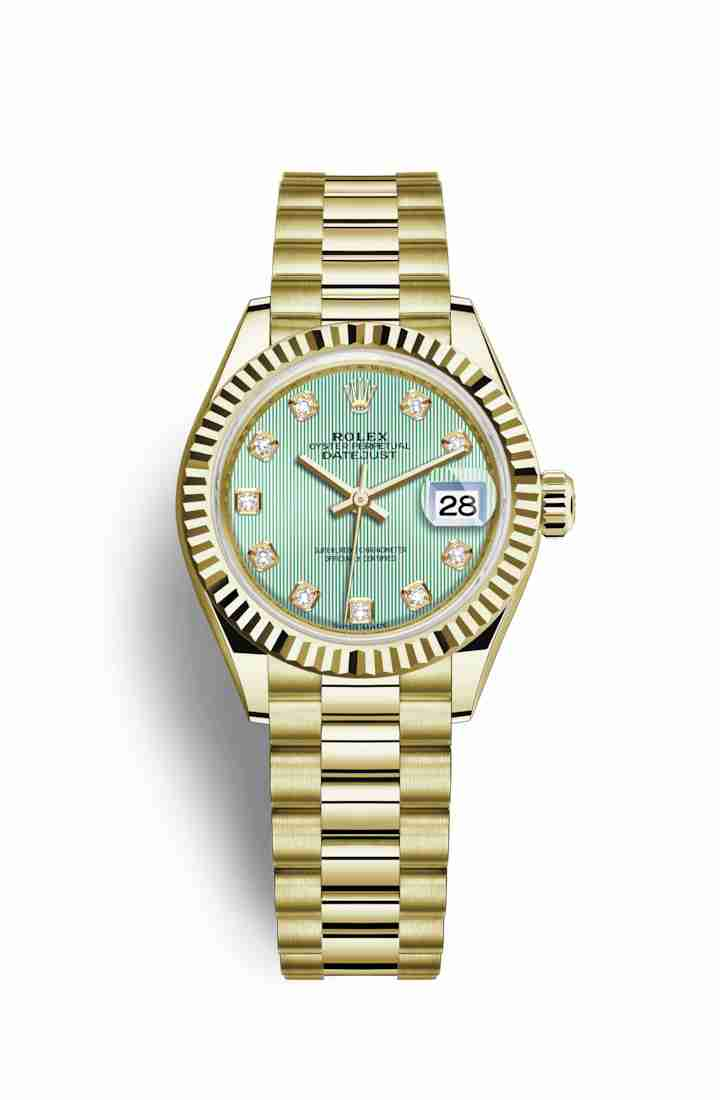 Rolex Datejust 28 279178 Mint green diamonds Watch Replica