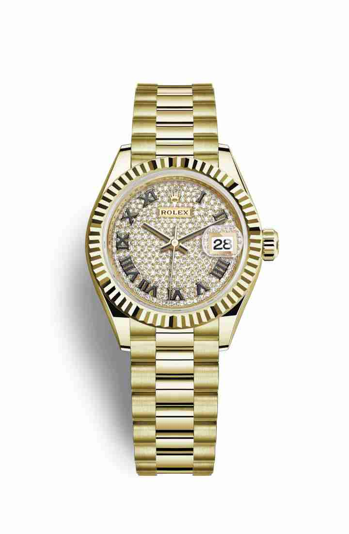 Rolex Datejust 28 279178 Diamond-paved Dial Watch Replica