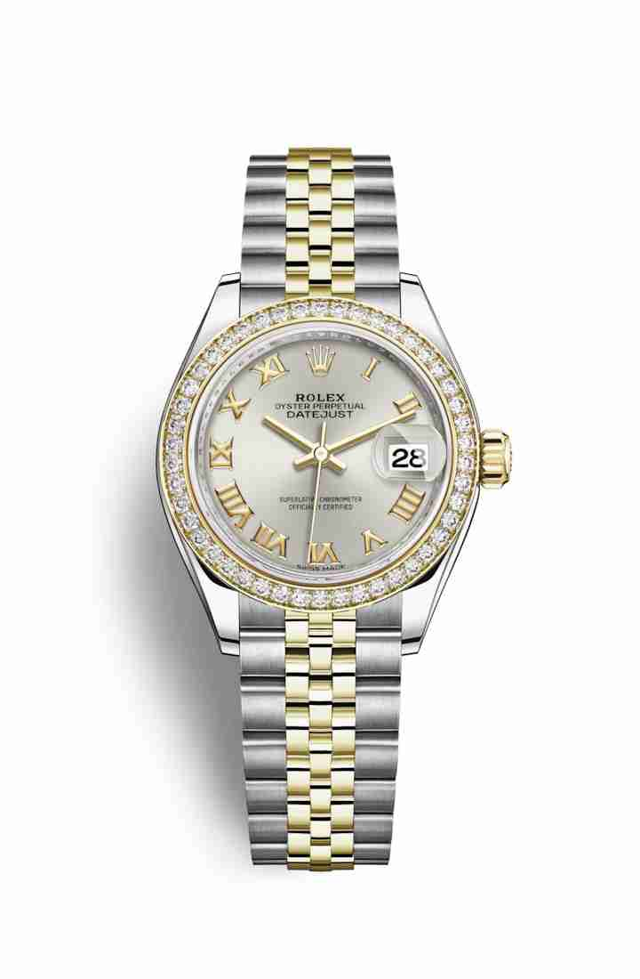 Rolex Datejust 28 Yellow 279383RBR Silver Dial Watch Replica