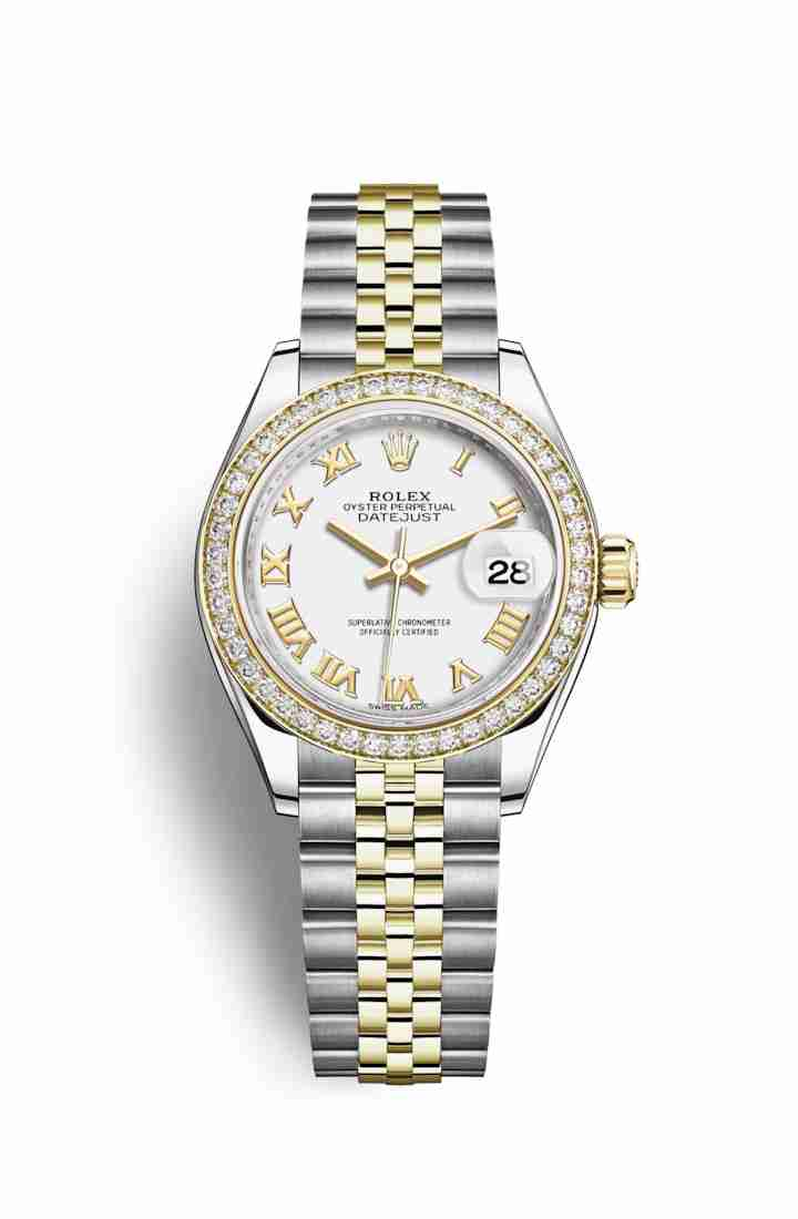 Rolex Datejust 28 Yellow 279383RBR White Dial Watch Replica