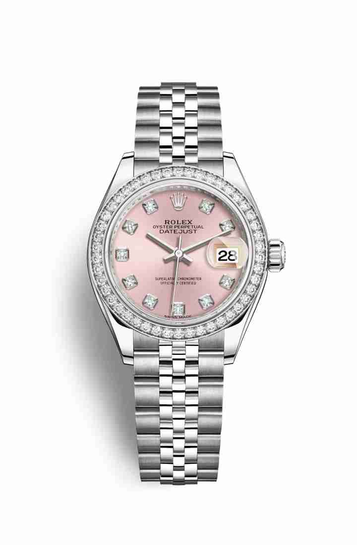 Rolex Datejust 28 White gold 279384RBR Pink diamonds Watch Replica