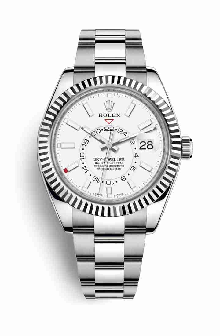Rolex Sky-Dweller White gold 326934 White Dial Watch Replica