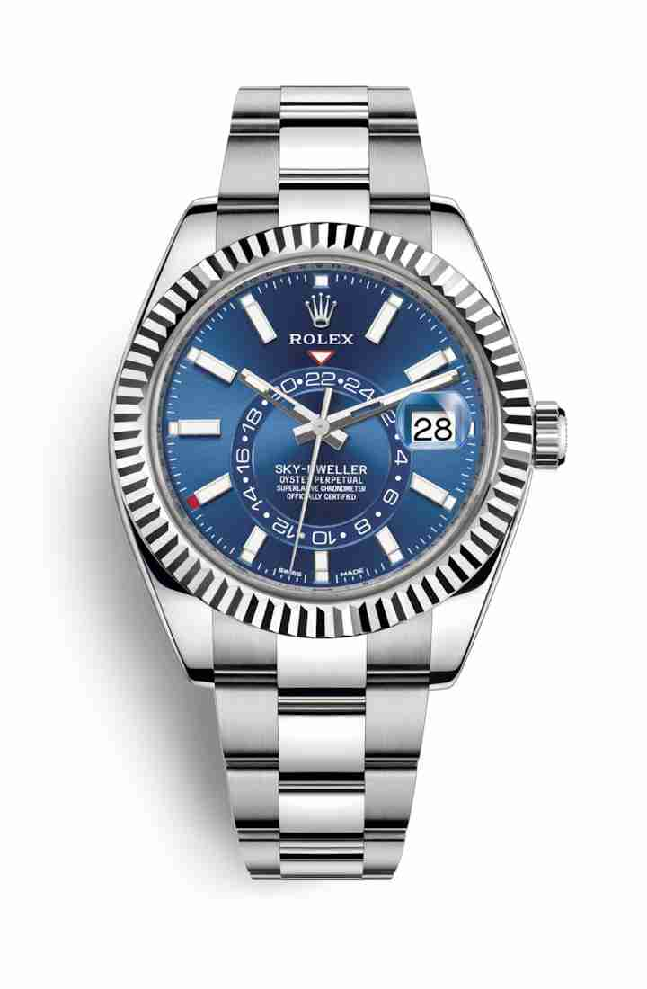 Rolex Sky-Dweller White gold 326934 Blue Dial Watch Replica