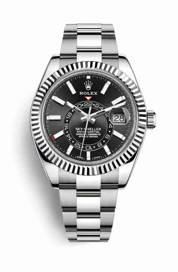 Rolex Sky-Dweller White gold 326934 Black Dial Watch Replica