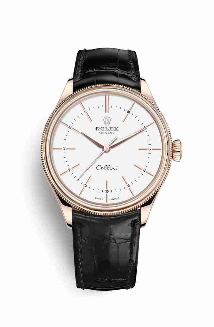 Rolex Cellini Time Everose gold 50505 White Dial Watch Replica