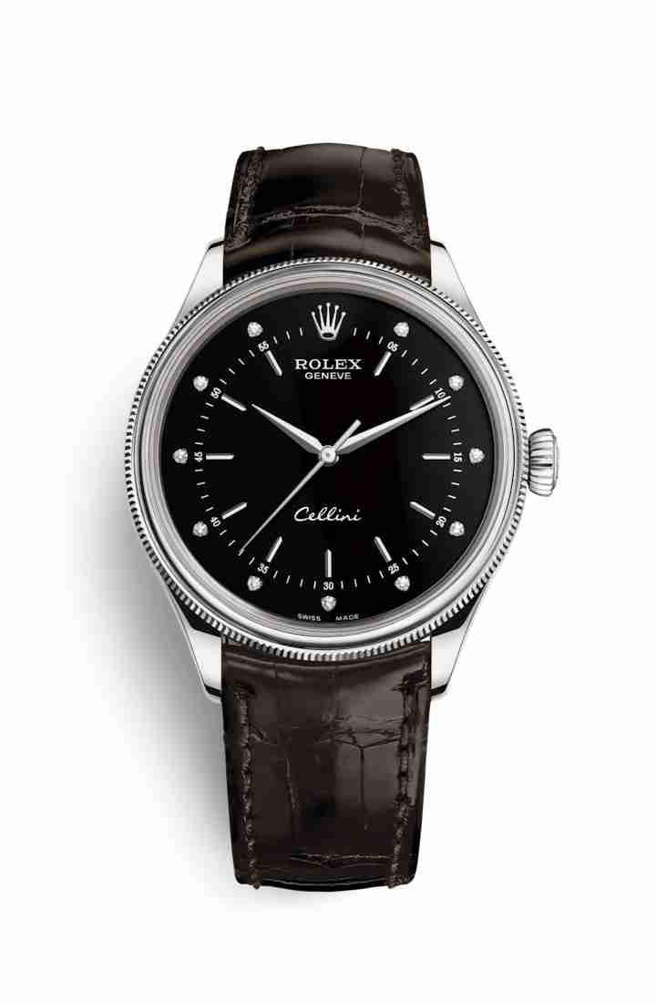 Rolex Cellini Time 50509 Black diamonds Watch Replica