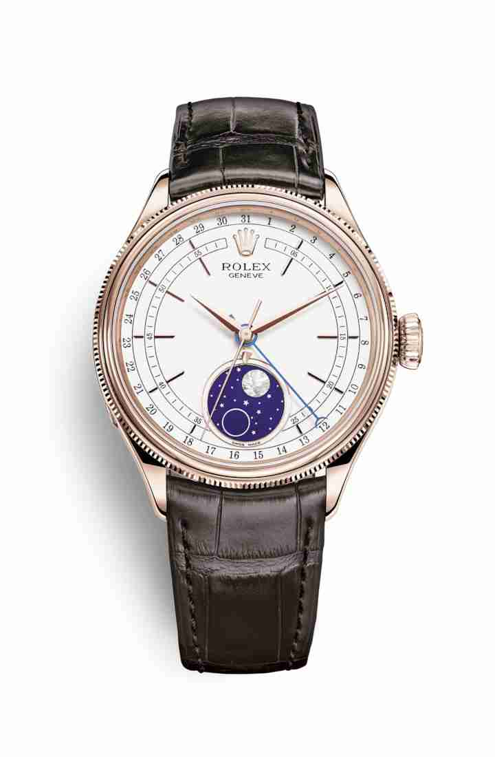 Rolex Cellini Moonphase Everose gold 50535 White Dial Watch Replica