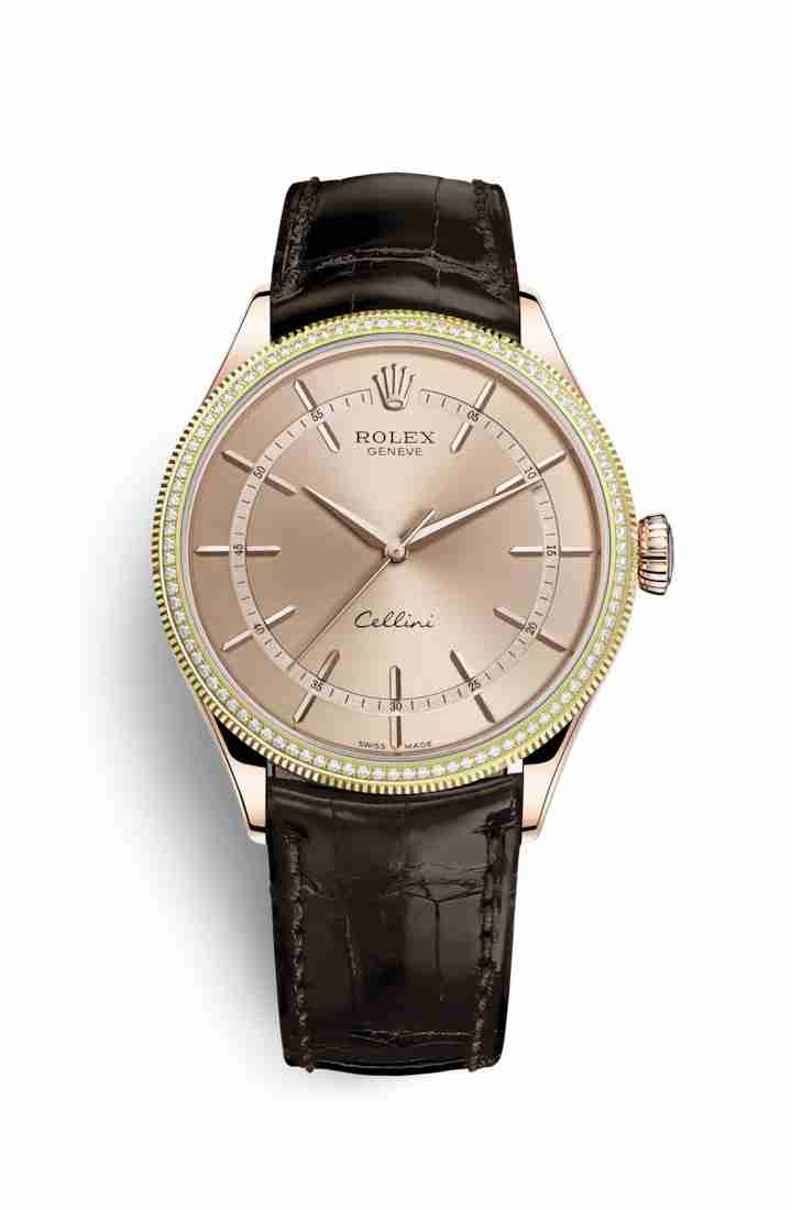 Rolex Cellini Time Everose gold 50605RBR Pink Dial Watch Replica