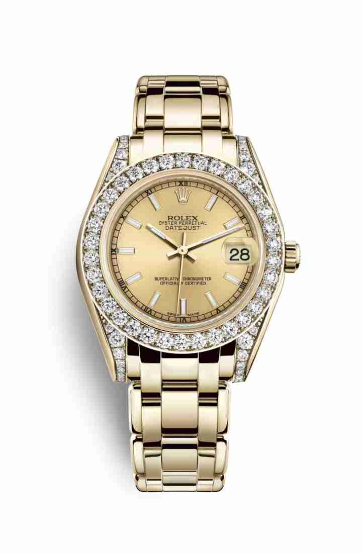 Rolex Pearlmaster 34 81158 Champagne Dial Watch Replica