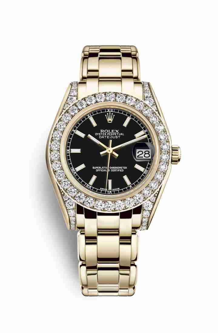 Rolex Pearlmaster 34 81158 Black Dial Watch Replica