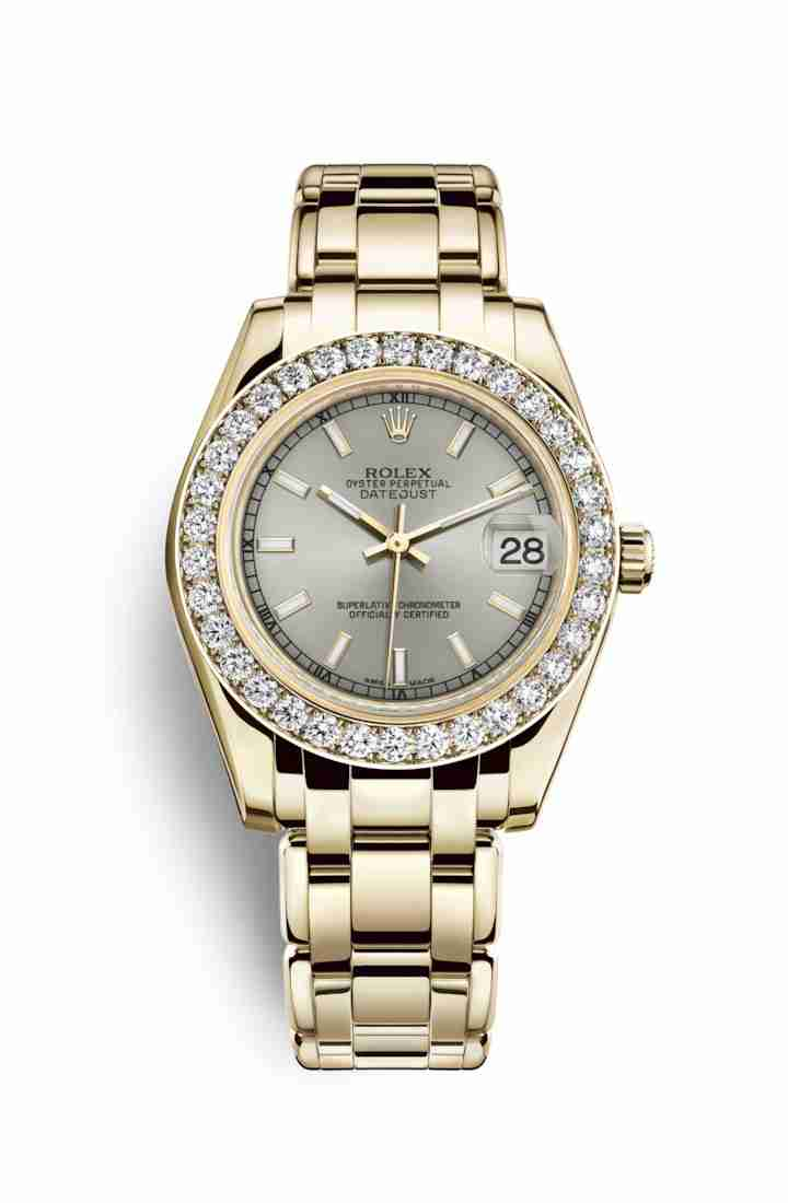 Rolex Pearlmaster 34 81298 Silver Dial Watch Replica