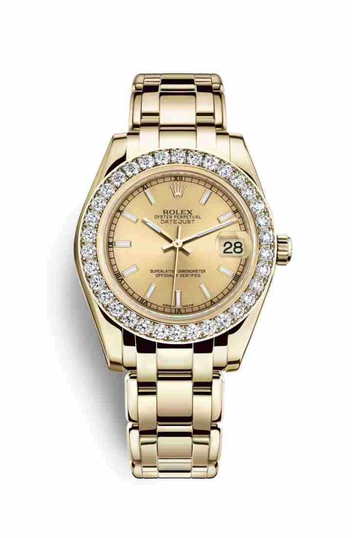Rolex Pearlmaster 34 81298 Champagne Dial Watch Replica
