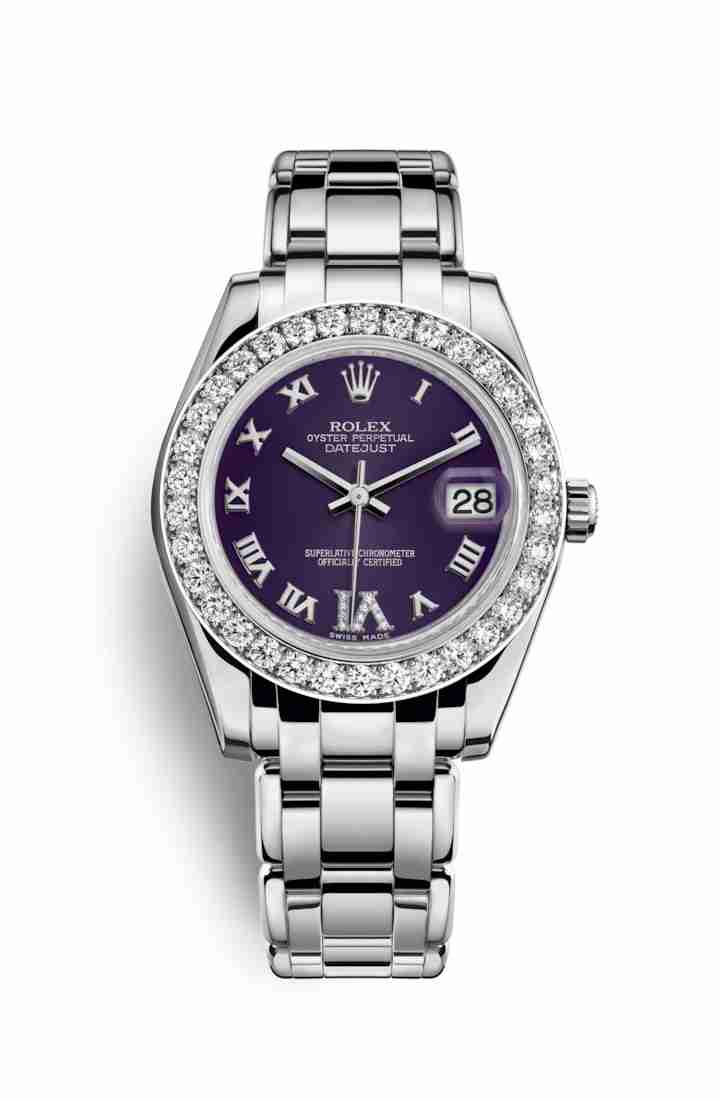 Rolex Pearlmaster 34 81299 Purple diamonds Watch Replica