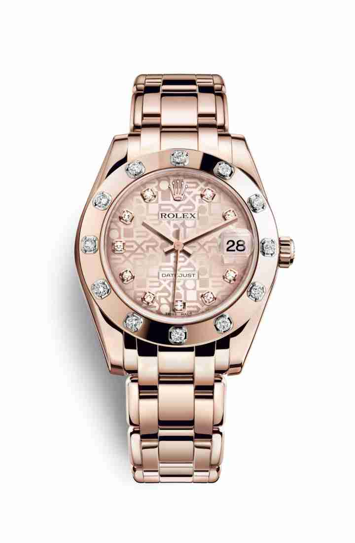 Rolex Pearlmaster 34 Everose gold 81315 Pink Jubilee diamonds Watch Replica