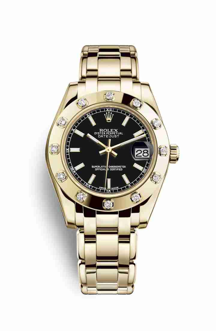 Rolex Pearlmaster 34 81318 Black Dial Watch Replica