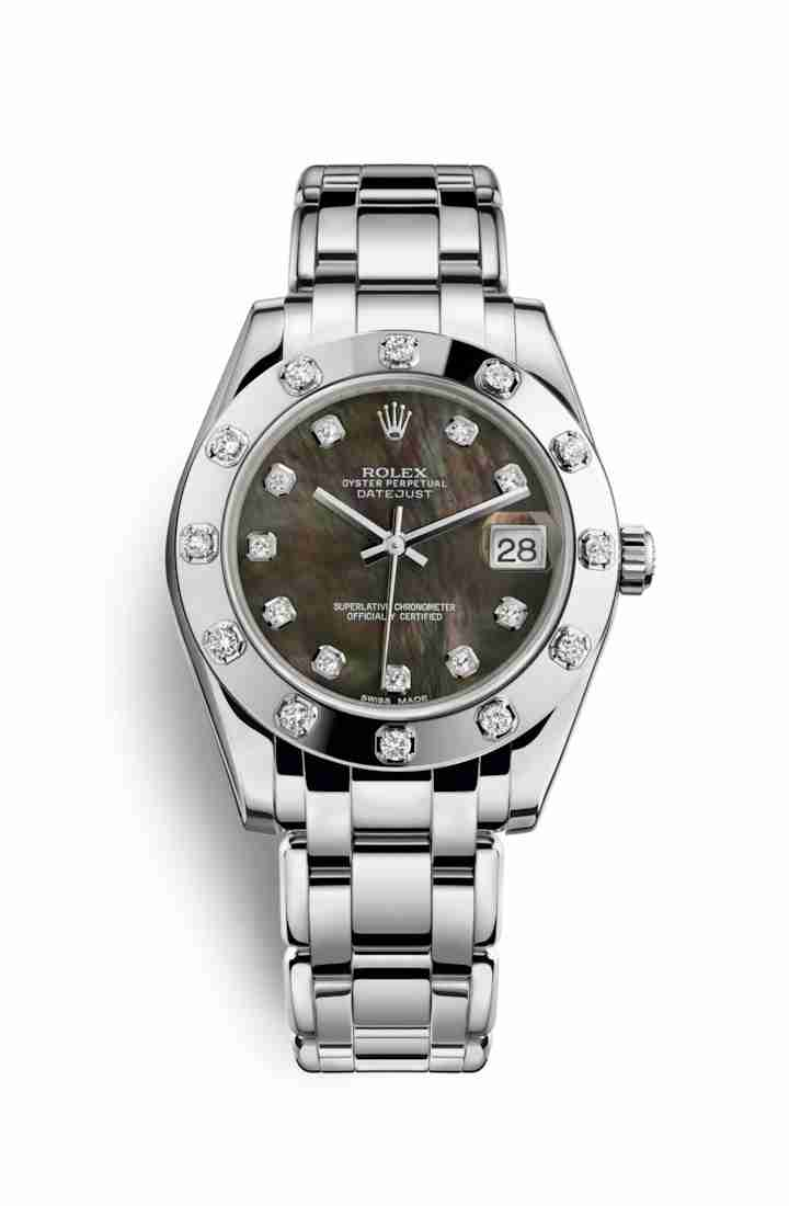 Rolex Pearlmaster 34 81319 Black mother-of-pearl diamonds Watch Replica