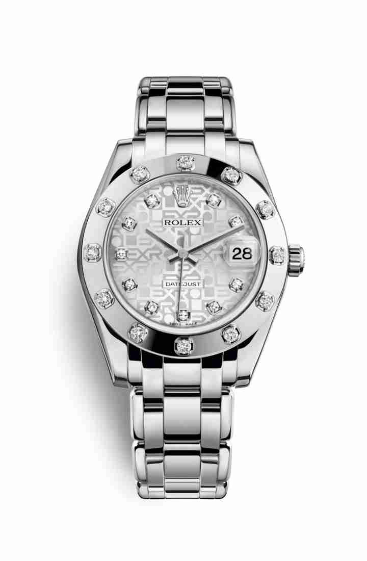 Rolex Pearlmaster 34 81319 Silver Jubilee diamonds Watch Replica