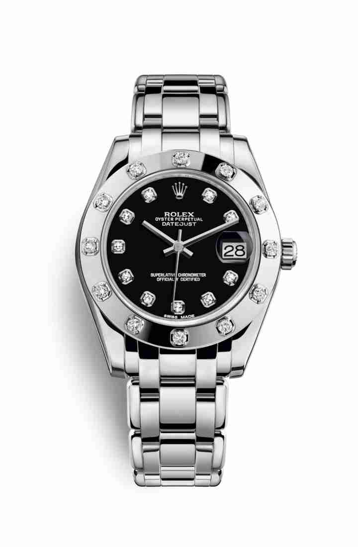 Rolex Pearlmaster 34 81319 Black diamonds Watch Replica