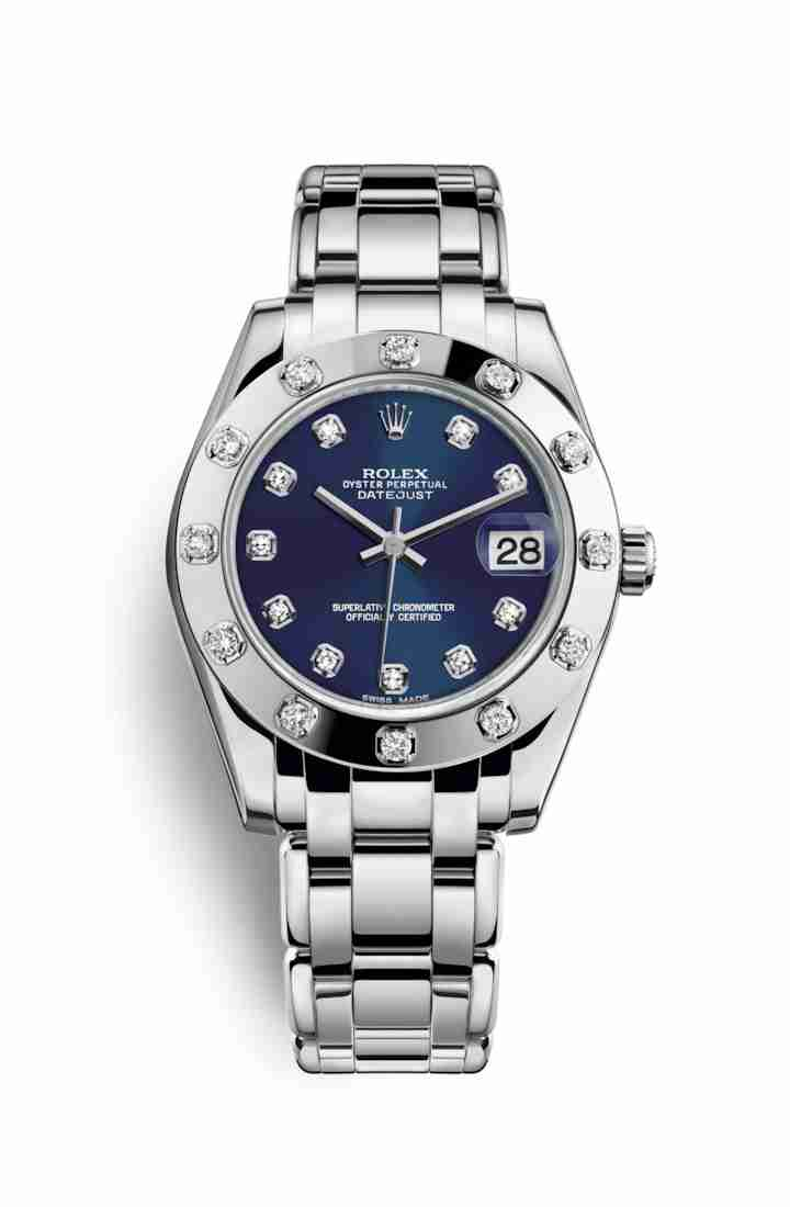 Rolex Pearlmaster 34 81319 Blue diamonds Watch Replica