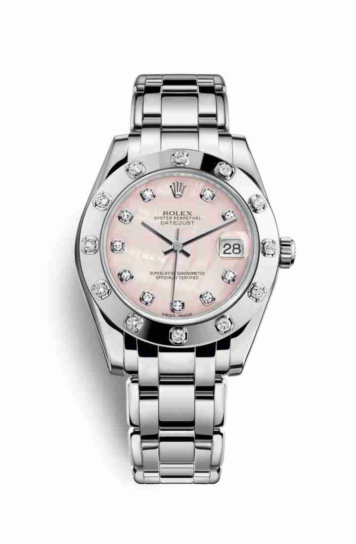 Rolex Pearlmaster 34 81319 Pink mother-of-pearl diamonds Watch Replica