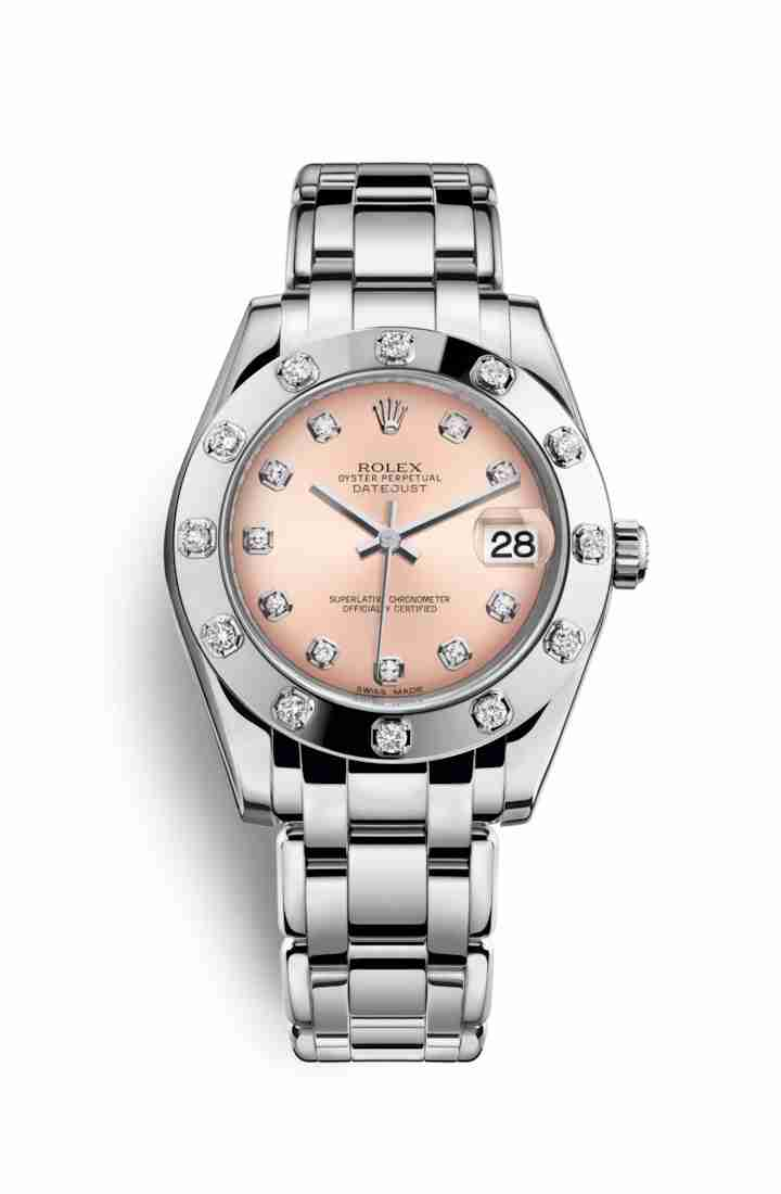 Rolex Pearlmaster 34 81319 Pink diamonds Watch Replica