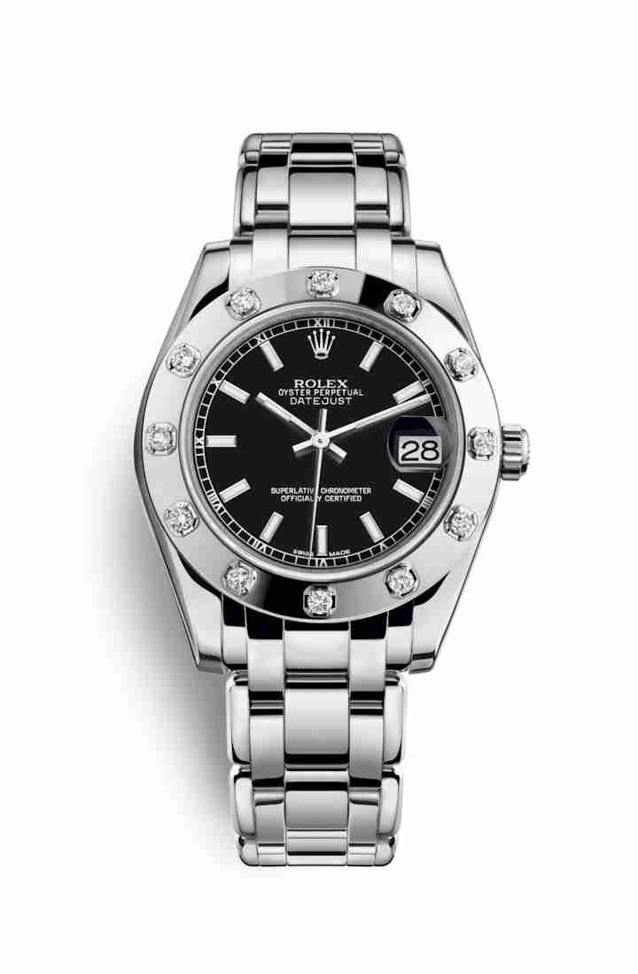 Rolex Pearlmaster 34 81319 Black Dial Watch Replica