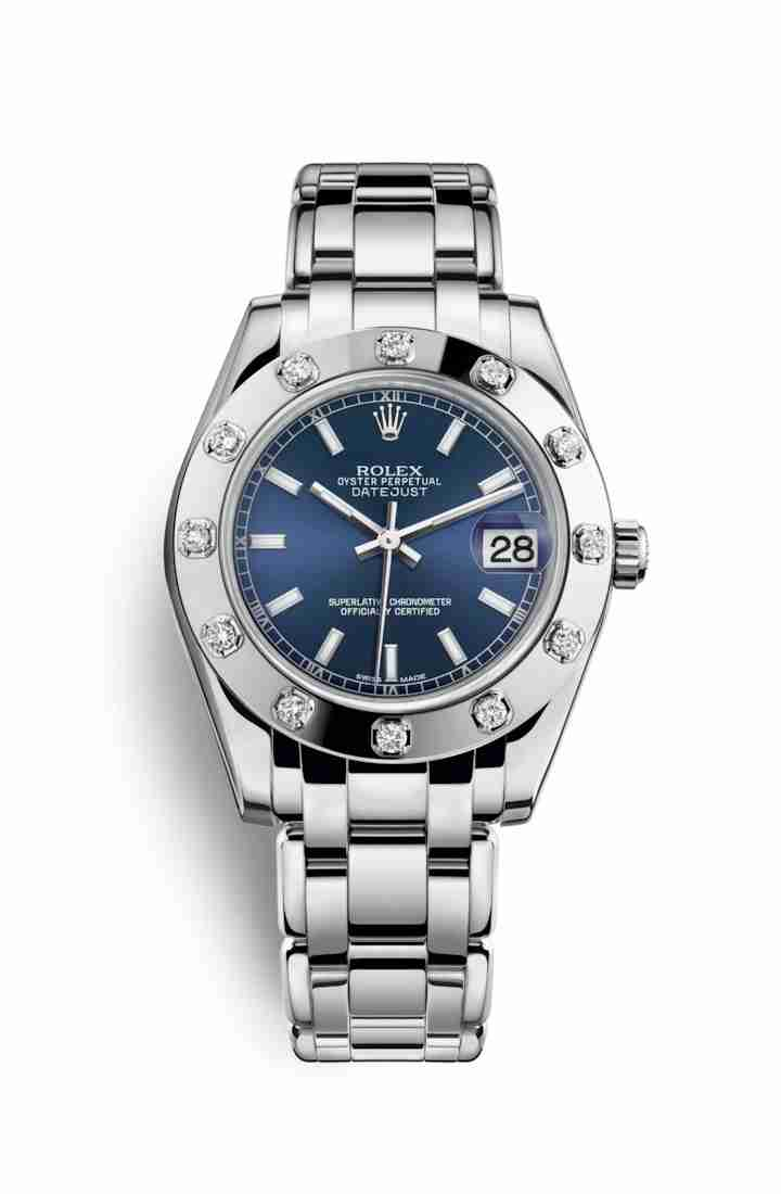 Rolex Pearlmaster 34 81319 Blue Dial Watch Replica