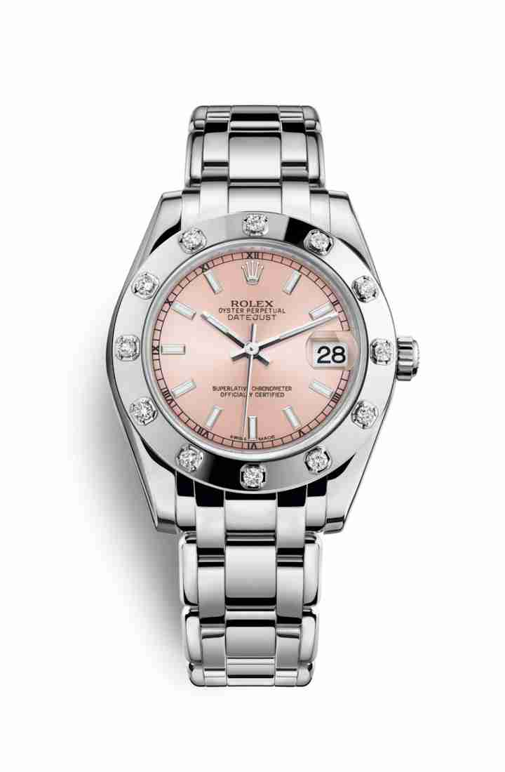 Rolex Pearlmaster 34 81319 Pink Dial Watch Replica