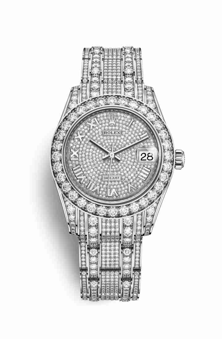 Rolex Pearlmaster 34 diamonds 81409RBR Diamond-paved Dial Watch Replica