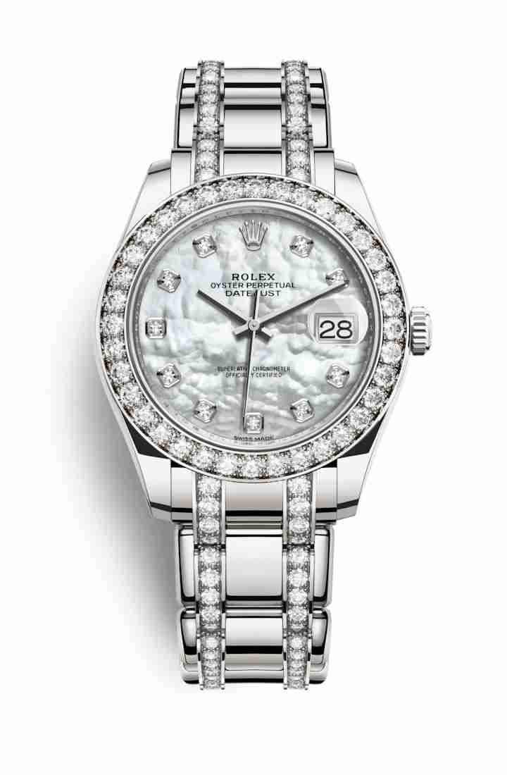 Rolex Pearlmaster 39 86289 White mother-of-pearl diamonds Watch Replica