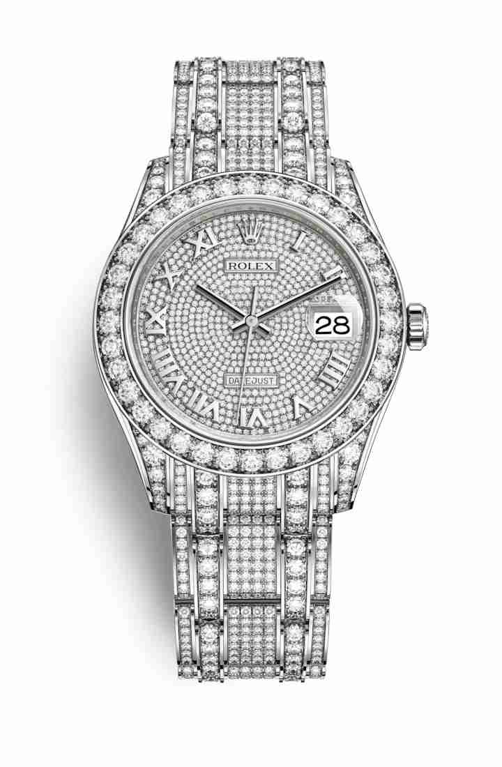 Rolex Pearlmaster 39 diamonds 86409RBR Diamond-paved Dial Watch Replica