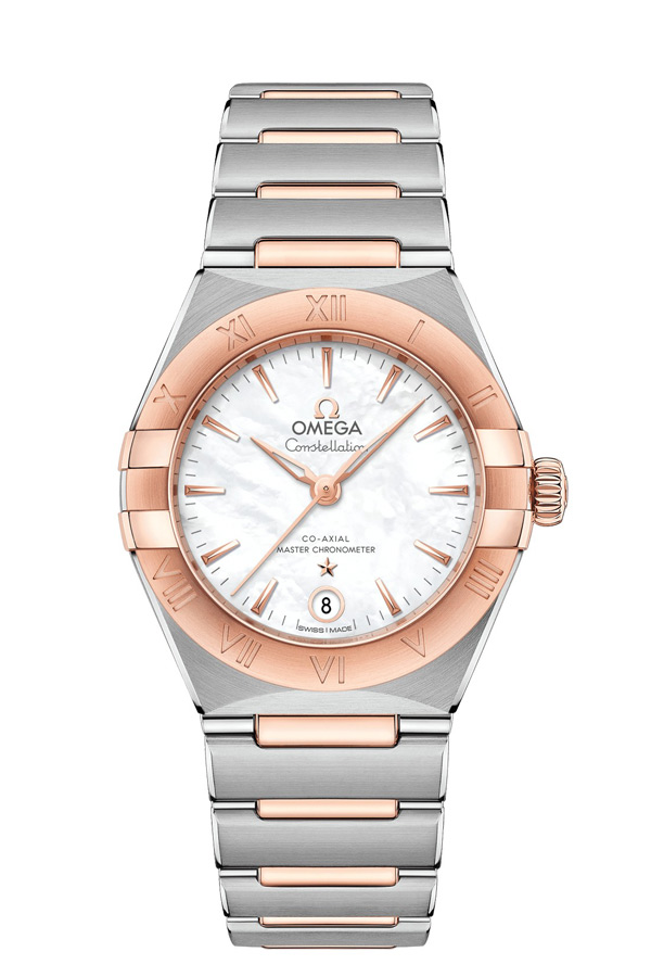 OMEGA Constellation Steel Sedna Gold Anti-magnetic 131.20.29.20.05.001