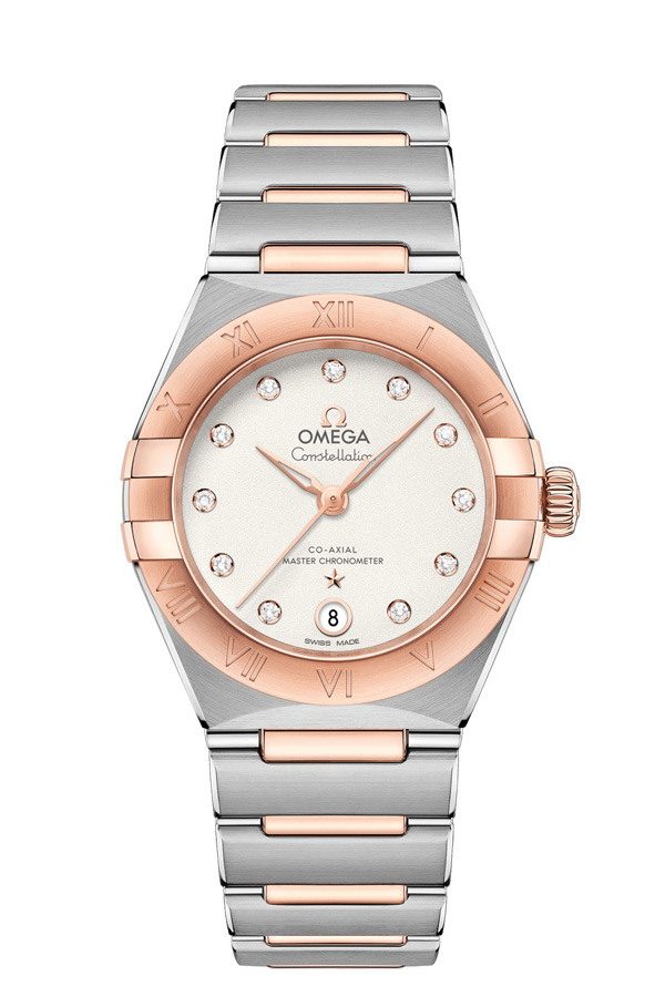 OMEGA Constellation Steel Sedna Gold Anti-magnetic 131.20.29.20.52.001