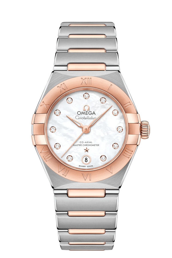 OMEGA Constellation Steel Sedna Gold Anti-magnetic 131.20.29.20.55.001