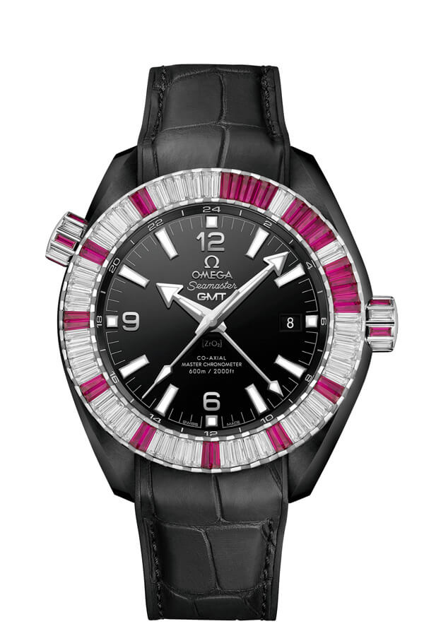 OMEGA Seamaster Black ceramic 24 hours GMT 215.98.46.22.01.002