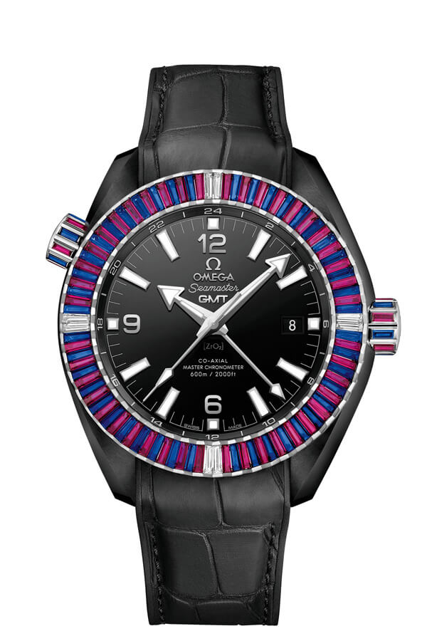 OMEGA Seamaster Black ceramic 24 hours GMT 215.98.46.22.01.003