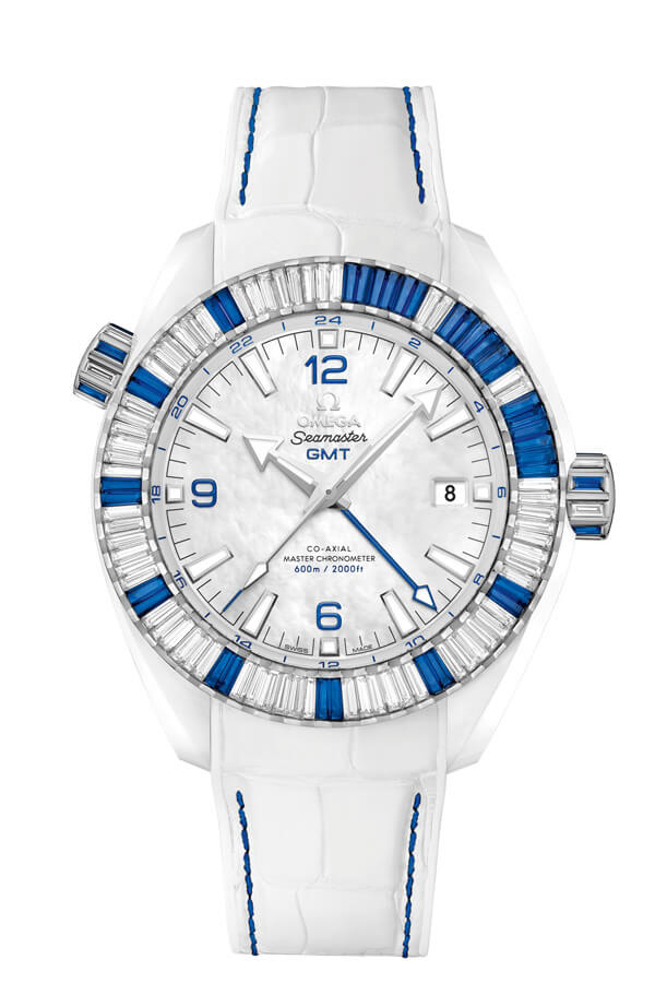 OMEGA Seamaster White ceramic 24 hours GMT 215.98.46.22.05.001