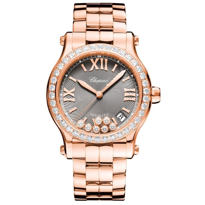 Chopard Happy Sport 18ct Rose Gold And Diamond 274808-5015 Reproduction