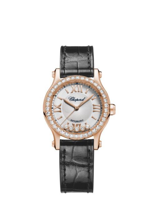 Chopard Happy Sport Alligator Leather White Dial Women's Reproduction