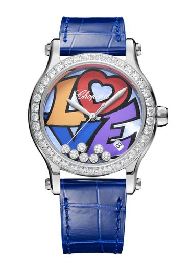 Chopard Happy Love Stainless Steel & Diamonds 278559-3021 Reproduction