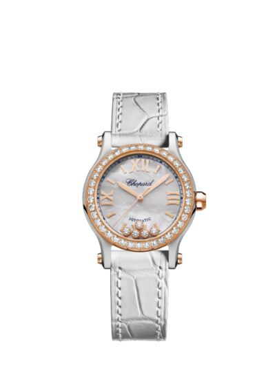 Chopard Happy Sport 30mm Automatic 18 K Rose Gold Stainless Steel And Diamonds Reproduction