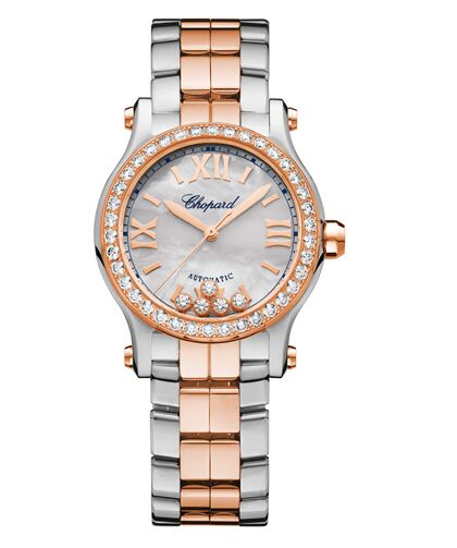 Chopard Happy Sport 18K Rose Gold & Stainless Steel & Diamonds 278573-6021 Reproduction