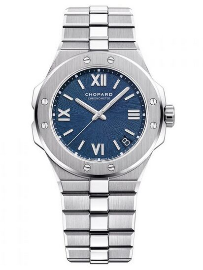 Chopard Alpine Eagle 36mm Lucent Steel Blue Dial Reproduction