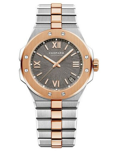Chopard Alpine Eagle 41mm Steel and Rose Gold Gray Dial Reproduction