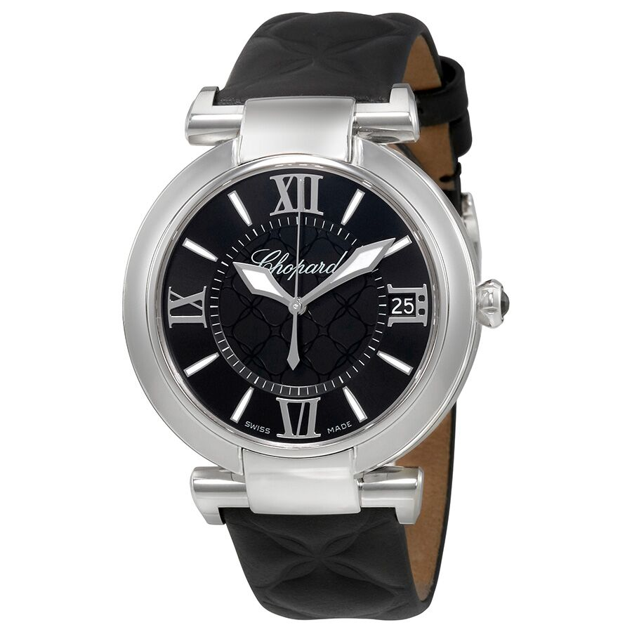 Chopard Imperiale Automatic 40mm Black Onyx Black Leather Men's Reproduction