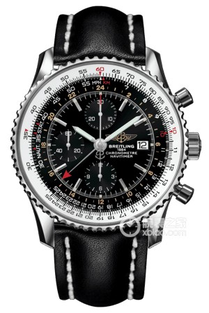 Breitling Navitimer World Chronograph Automatic Chronometer Black Dial Men's
