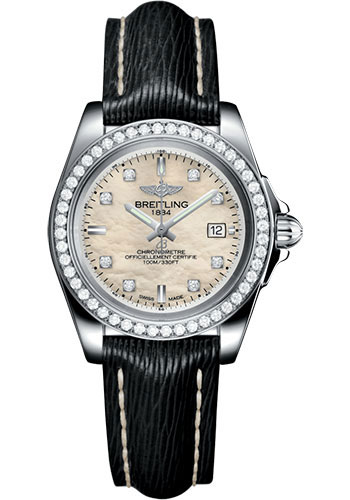 Breitling Galactic 32 Sleek Edition Steel/Diamonds A7133053/A801/208X/A14BA.1