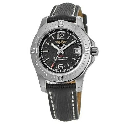 Breitling Colt 33 Quartz Volcano Black Dial Leather Strap A77388111BD46 Women's